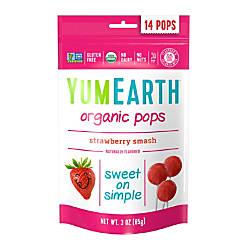 Yummy Earth Organic Strawberry Smash Lollipops