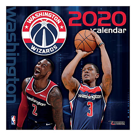 "Turner Sports Monthly Wall Calendar, 12"" x 12"", Washington Wizards, January To December 2020"