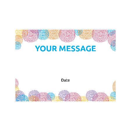 Flat Photo Greeting Card, Abstract Circle Patterns, Horizontal