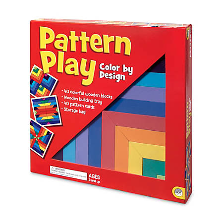 "Mindware Pattern Play Game, 1 3/4""H x 11 1/2""W x 11 1/2""D, Assorted Colors, Grades Pre-K - 5"