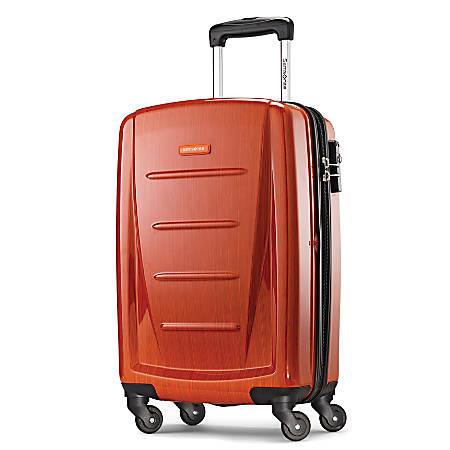 "Samsonite® Winfield 2 Polycarbonate Rolling Spinner, 20""H x 13 1/2""W x 9""H, Orange"