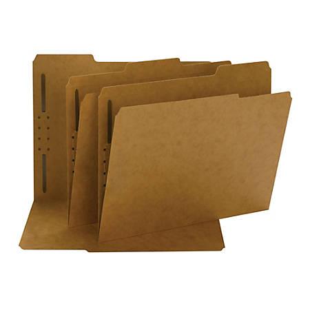 Smead® 2-Ply Folders, 1/3 Cut, Letter Size, Kraft, Pack Of 50