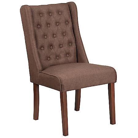 Flash Furniture HERCULES Preston Series Tufted Parsons Chair, Brown