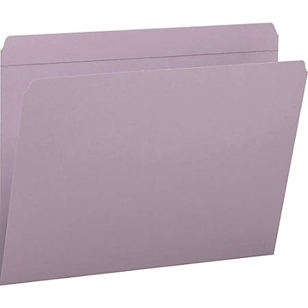 Smead® File Folders, Letter Size, Straight Cut, Lavender, Box Of 100