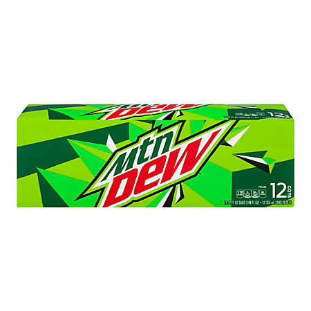 Mountain Dew, 12 Oz, Pack Of 12 Cans