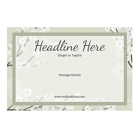 Custom Banner, Horizontal, Spring Flowers