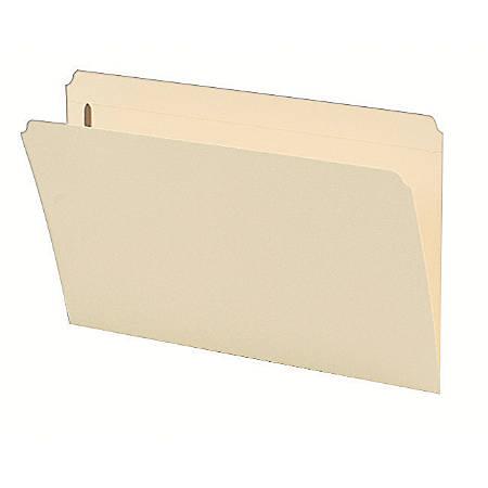 Smead® Manila Reinforced Tab Fastener Folders, Legal Size, Straight Cut, Pack Of 50