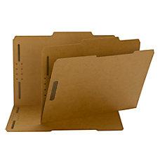 Smead Kraft Reinforced Tab Fastener Folders