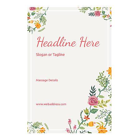 Custom Poster, Vertical, Floral Design 6