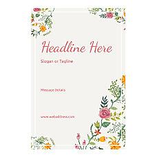 Custom Poster Vertical Floral Design 6