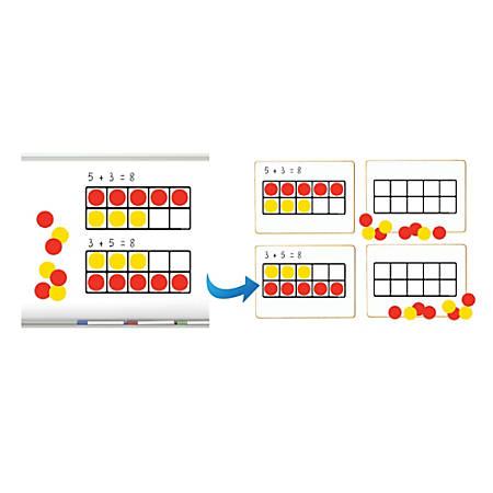 """Dowling Magnets Ten Frames Magnet Math Set, 15"""" x 6 3/16"""", Assorted, Grade 2 - Grade 7"""