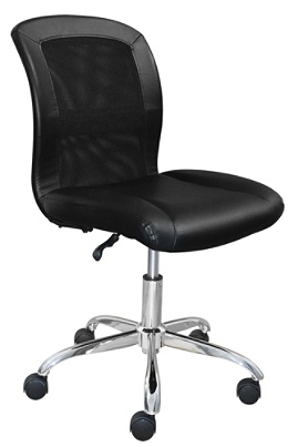 Serta Essentials Faux Leather Mid Back Computer Chair Ingenuity Blackchrome By Office Depot Officemax