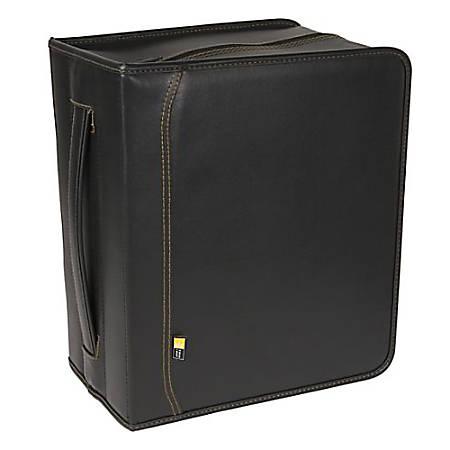 Case Logic DVD - Album for CD/DVD discs - 200 discs - faux leather - black
