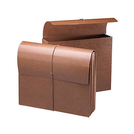 "Smead® Expanding Wallet, 3 1/2"" Expansion, 9 1/2"" x 11 3/4"", 30% Recycled, Brown"