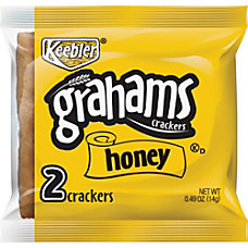 Keebler Grahams Honey Crackers Individually Wrapped