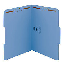 Smead Color Reinforced Tab Fastener Folders