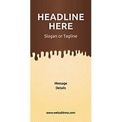 Custom Vertical Display Banner Chocolate Wafer