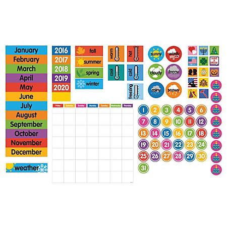 magnet tools giant magnetic calendar 94 piece set by office depot