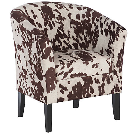 Linon Cullman Microfiber Club Chair, Brown Cow