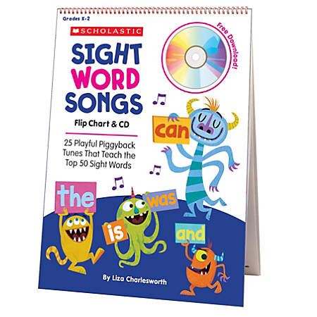 Flip Charts Sight Word Songs Flip Chart & CD Set, Grades Prek-1