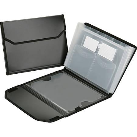 SKILCRAFT® 7-Tab Polypropylene Expanding File Folder, Letter Size, Black