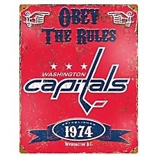 Party Animal Washington Capitals Embossed Metal