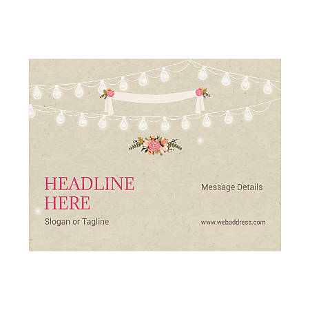 Custom Flyer, Horizontal, Floral And Lights