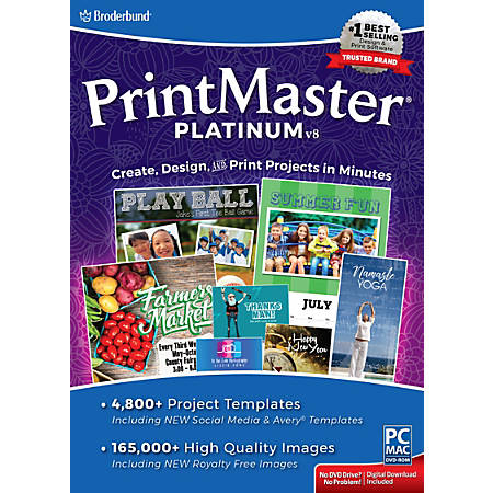 Encore™ PrintMaster Platinum v8, For PC And Apple® Mac®, Traditional Disc