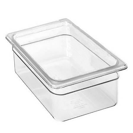 Cambro 1/2 Size Camwear Food Pan, Clear