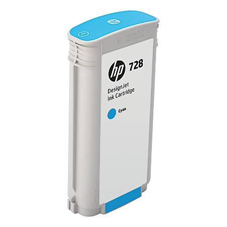HP 728 130-mL Cyan Ink Cartridge (F9J67A)