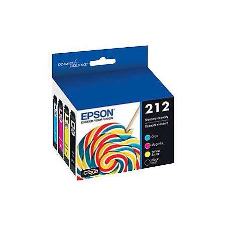 Epson 212 Multi-pack - 4-pack - black, yellow, cyan, magenta - original - ink cartridge - for Expression Home XP-4100, XP-4105 Small-in-One; WorkForce WF-2830, WF-2850