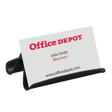 Office Depot Brand Business Card Holder Black Office Depot