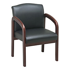 Lorell Deluxe Bonded Leather Guest Chair
