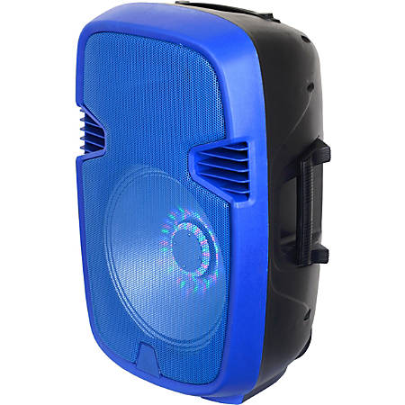 IQ Sound Portable Bluetooth Speaker System - Blue - 50 Hz to 20 kHz - Battery Rechargeable - USB