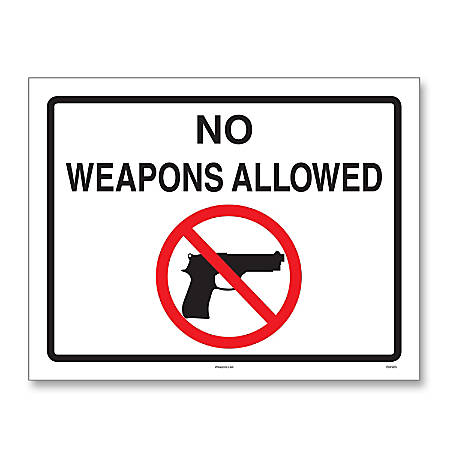"""ComplyRight State Weapons Law 1-Year Poster Service, English, North Carolina, 8 1/2"""" x 11"""""""