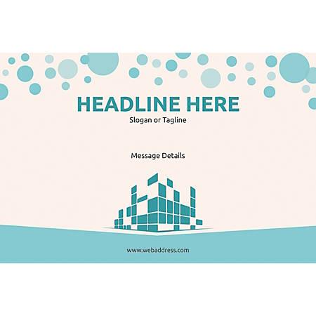 Custom Poster, Graphic Building, Horizontal