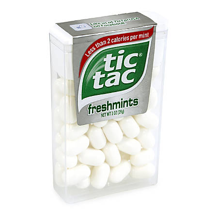 Tic Tac Freshmint Singles, 1 Oz, Pack Of 12 Boxes