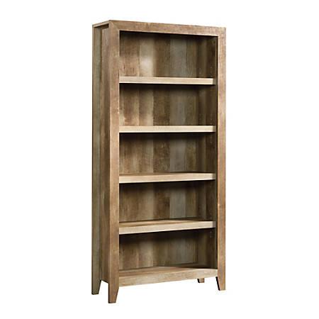 Sauder® Dakota Pass Bookcase, 5 Shelf, Craftsman Oak