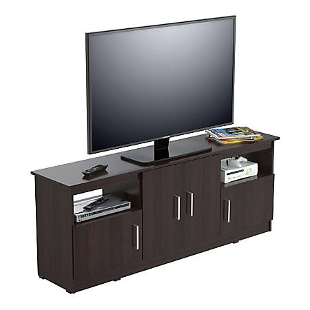 Inval Flat Screen Tv Stand For 60 Tvs 63 W Espresso Wengue