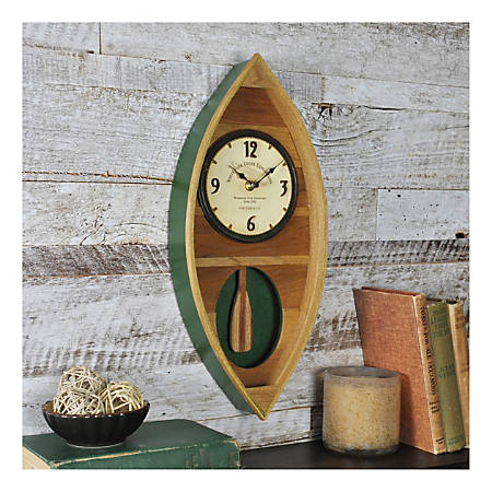 FirsTime & Co.® Canoe Pendulum Clock, Wood/Green