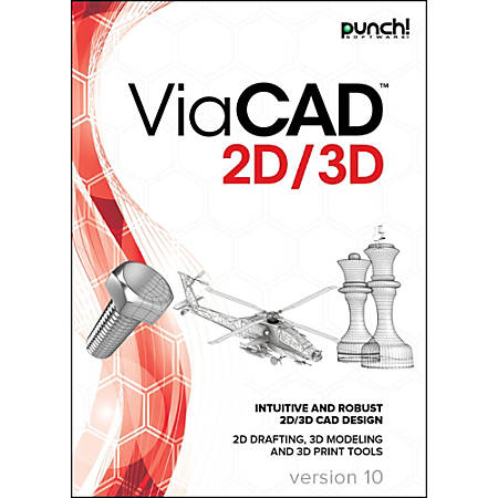 Punch! ViaCAD 2D/3D v10 for Windows PC, Download Version