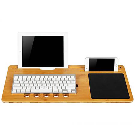 "LapGear BamBoard Lap Desk, 22"" x 11"", Natural Bamboo"