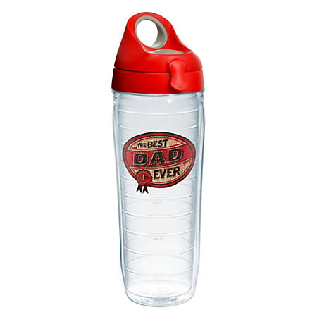 Tervis Hallmark Best Dad Ever Water Bottle With Lid, 24 Oz, Clear