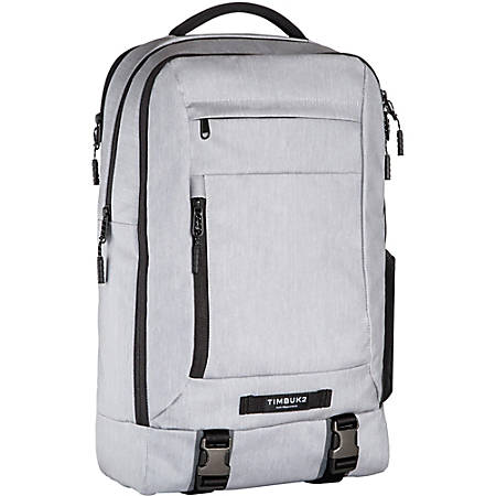 """Timbuk2 Authority Carrying Case (Backpack) for 17"""" Notebook - Fog - Water Resistant - Melange Polyester, Neoprene Pocket - Handle, Shoulder Strap, Chest Strap - 18.1"""" Height x 11.4"""" Width x 5.9"""" Depth"""