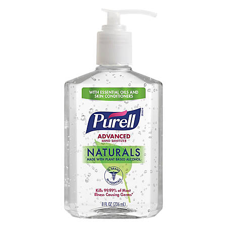 Purell® Advanced Naturals Hand Sanitizer Gel, 8 Oz