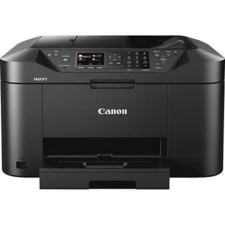 Canon MAXIFY MB2120 Inkjet Multifunction Printer - Color - Copier/Fax/Printer/Scanner - 600 x 1200 dpi Print - Automatic Duplex Print - 1200 dpi Optical Scan - 250 sheets Input - Ethernet - Wireless LAN - Mopria