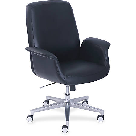 "La-Z-Boy ComfortCore Gel Seat Collaboration Chair - Faux Leather Black Seat - Faux Leather Black Back - 20.3"" Width x 29"" Depth x 48"" Height"
