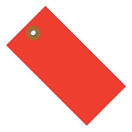"""Office Depot® Brand Tyvek® Shipping Tags, 3 3/4"""" x 1 7/8"""", Red, Case Of 100"""