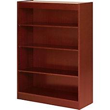 Lorell Veneer Bookcase 4 Shelf 48