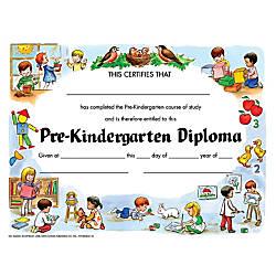 Hayes Pre Kindergarten Diplomas 8 12